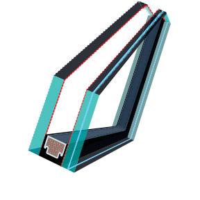 FAKRO R1 os tetőtéri ablak üveg