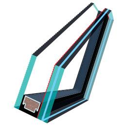 FAKRO P2 es tetőtéri ablak üveg