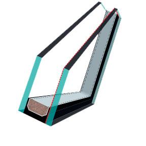 FAKRO U2 es tetőtéri ablak üveg