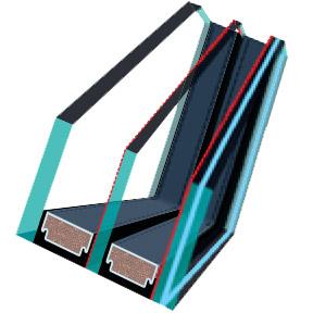 FAKRO U6 os tetőtéri ablak üveg